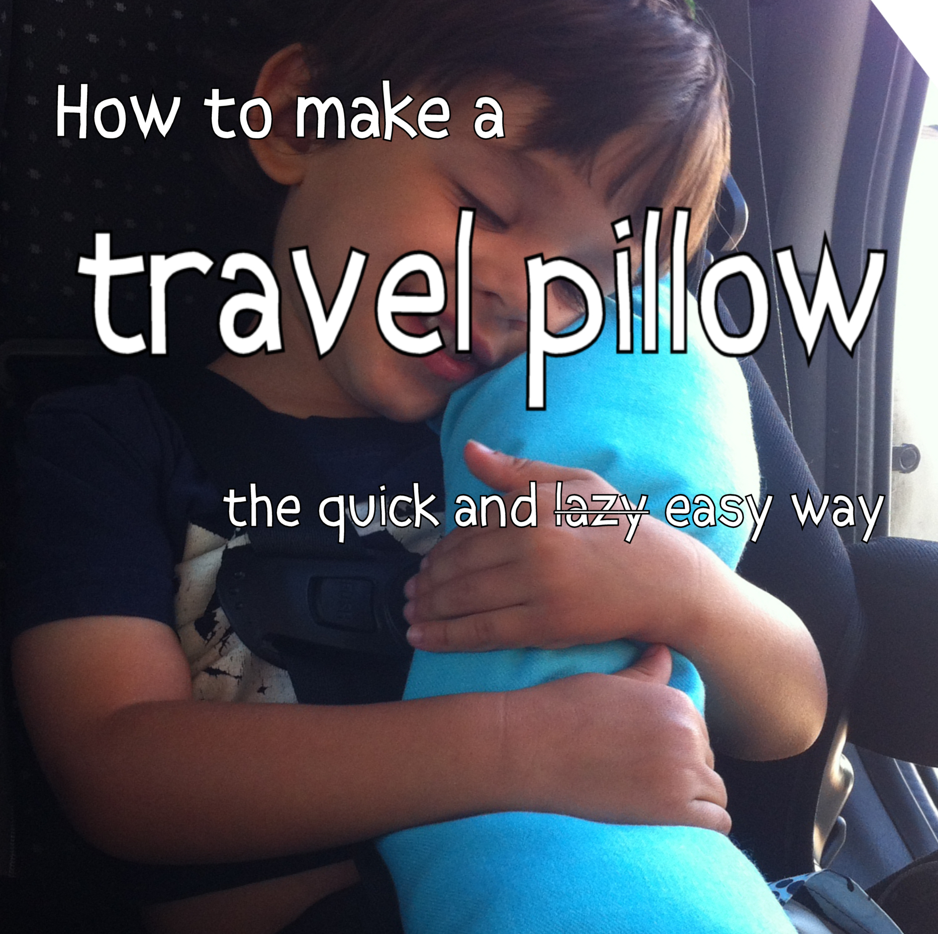 how to make a travel pillow