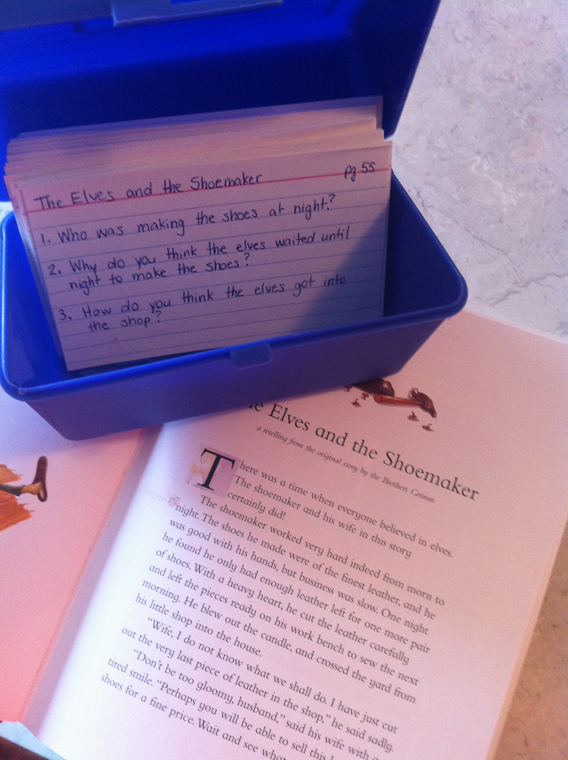 Fairy tales reading comprehension activities im a teaching mom i placed all the index cards in the holder and kept it in the car for our drive you can also leave these at a reading centre or keep them for yourself robcynllc Image collections
