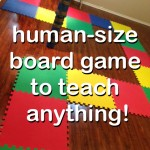 life size board game used to teach