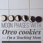 Moon phases with oreo cookies