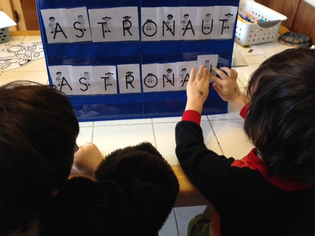 astronaut letter matching