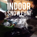 playing with snow indoors
